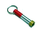 Rainbow Red Key Chain