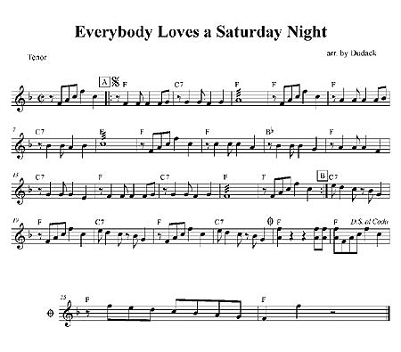 """Everybody Loves A Saturday Night"" by Matt Dudack"