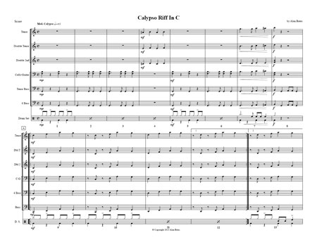 """Calypso Riff In C"" By Alan Bates"
