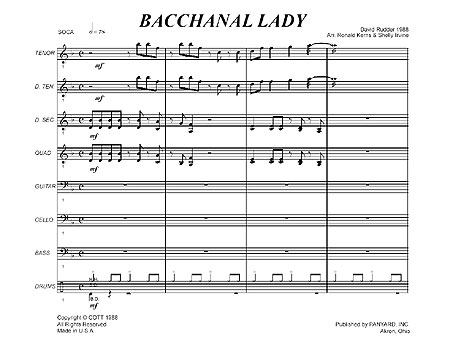 """Bacchanal Lady"" by David Rudder"