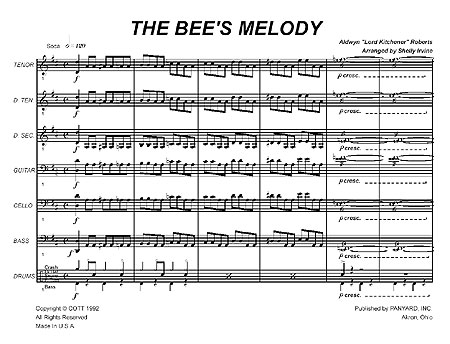 """The Bee's Melody"" by Aldwyn ""Kitchener"" Roberts"