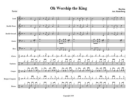 """Oh Worship the King"" Traditional"