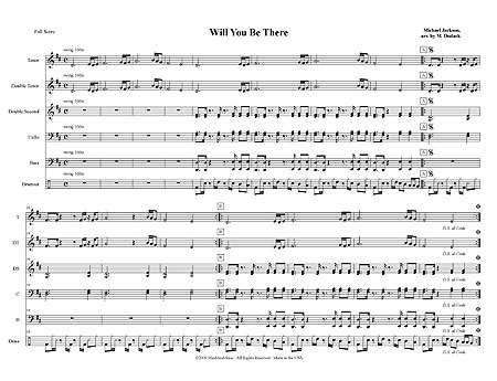 will you be there sheet music free